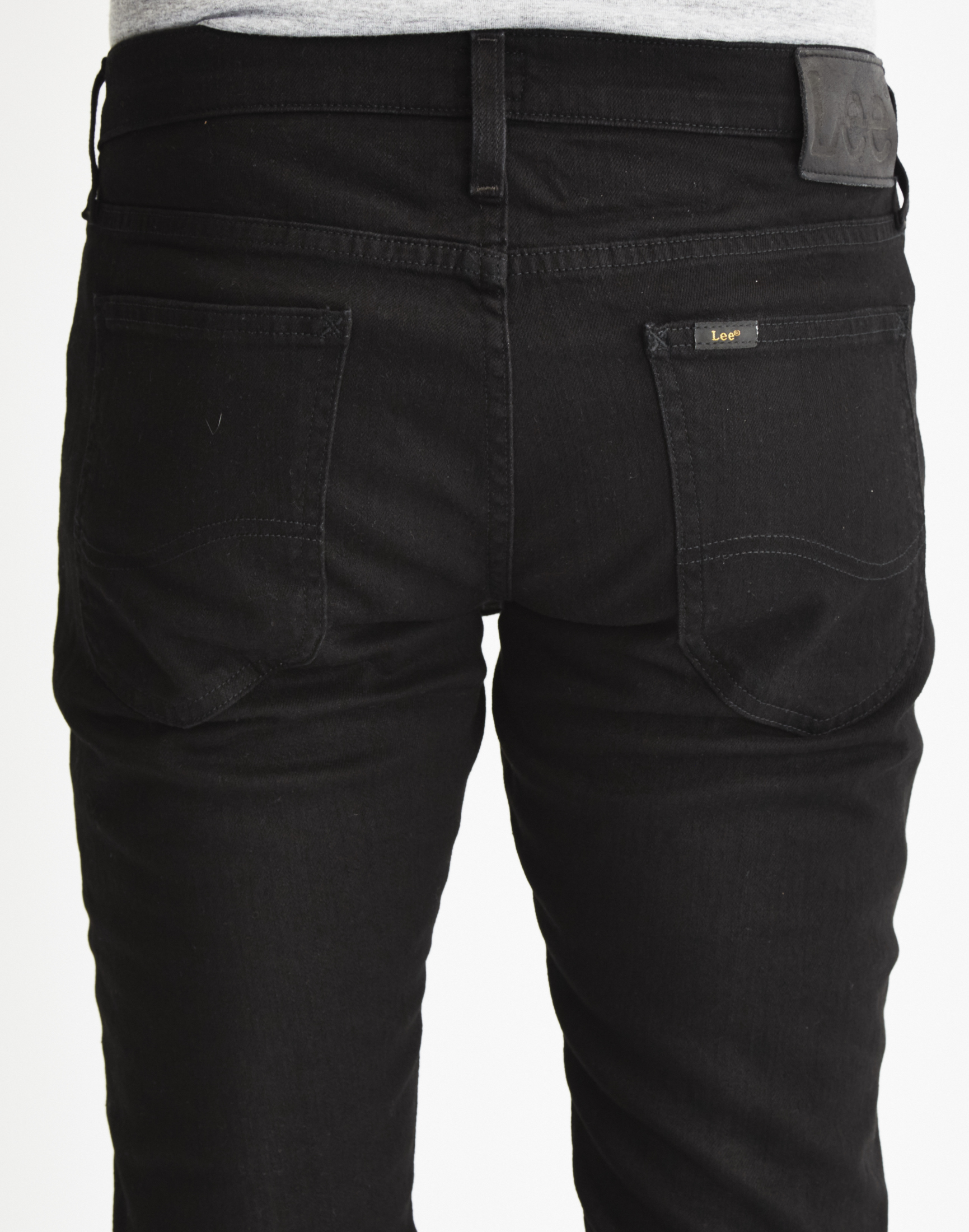 b88dfd04 Lee Jeans Luke Slim Tappered Jeans In Clean Black in Black for Men ...