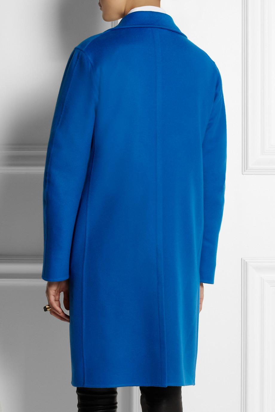 Jil sander Riverton Cashmere Coat in Blue | Lyst