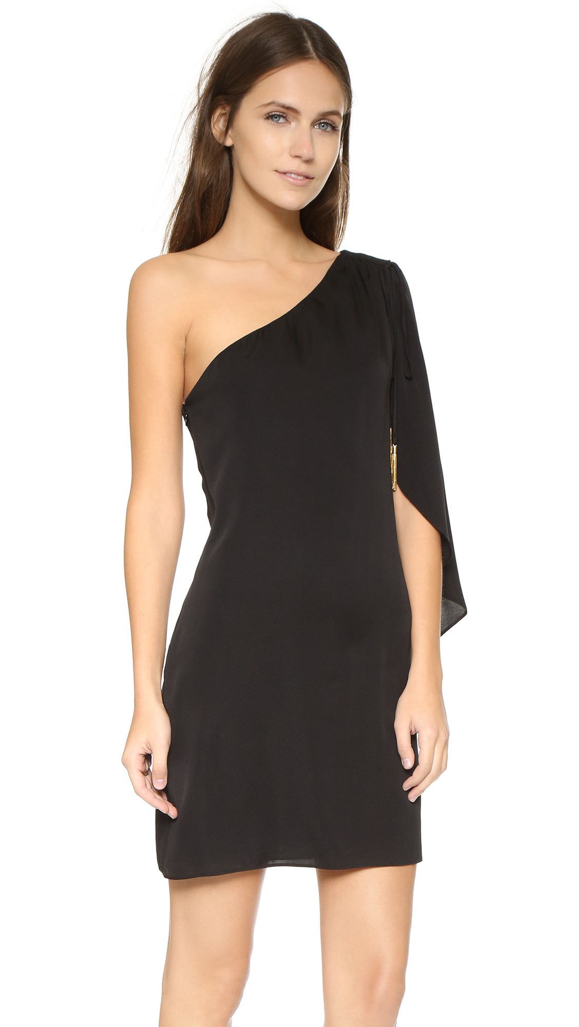 Lyst Milly Olivia One Shoulder Dress In Black