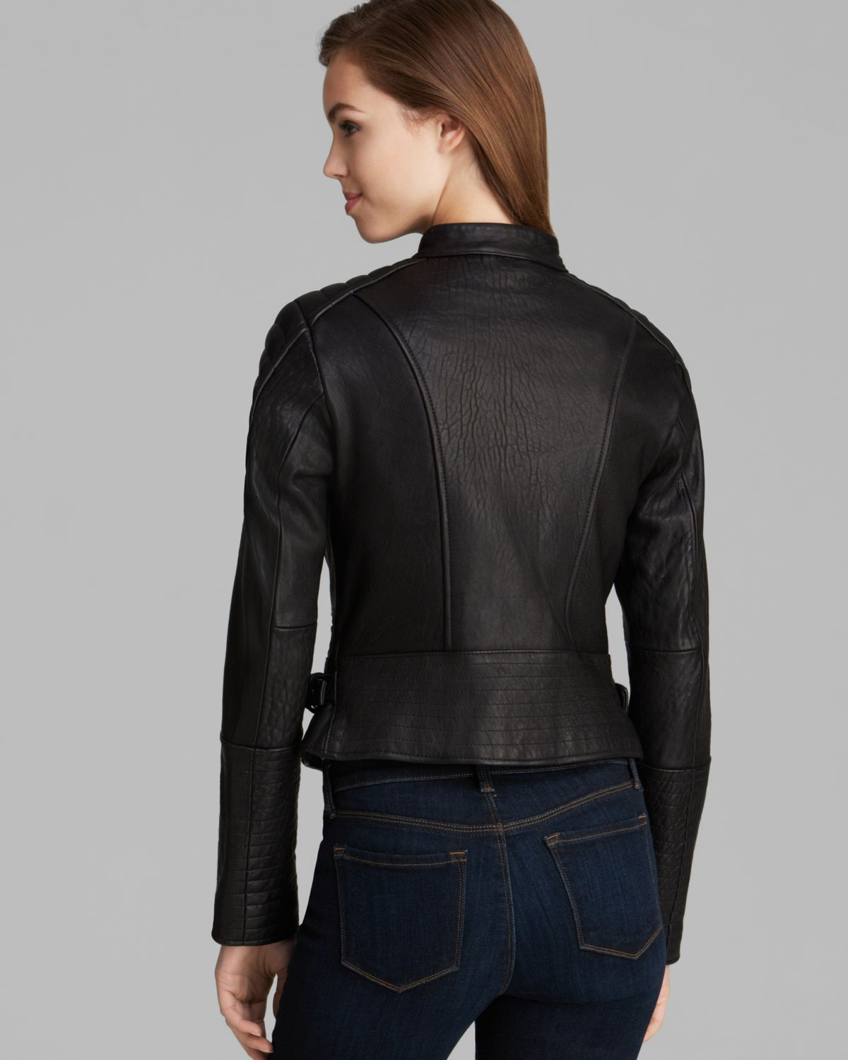 Dawn Levy Jacket Turtle Moto Leather In Black Lyst