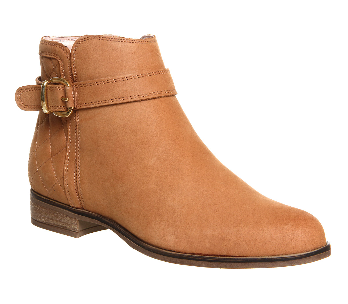 office copper smart buckl ankle boots in brown lyst