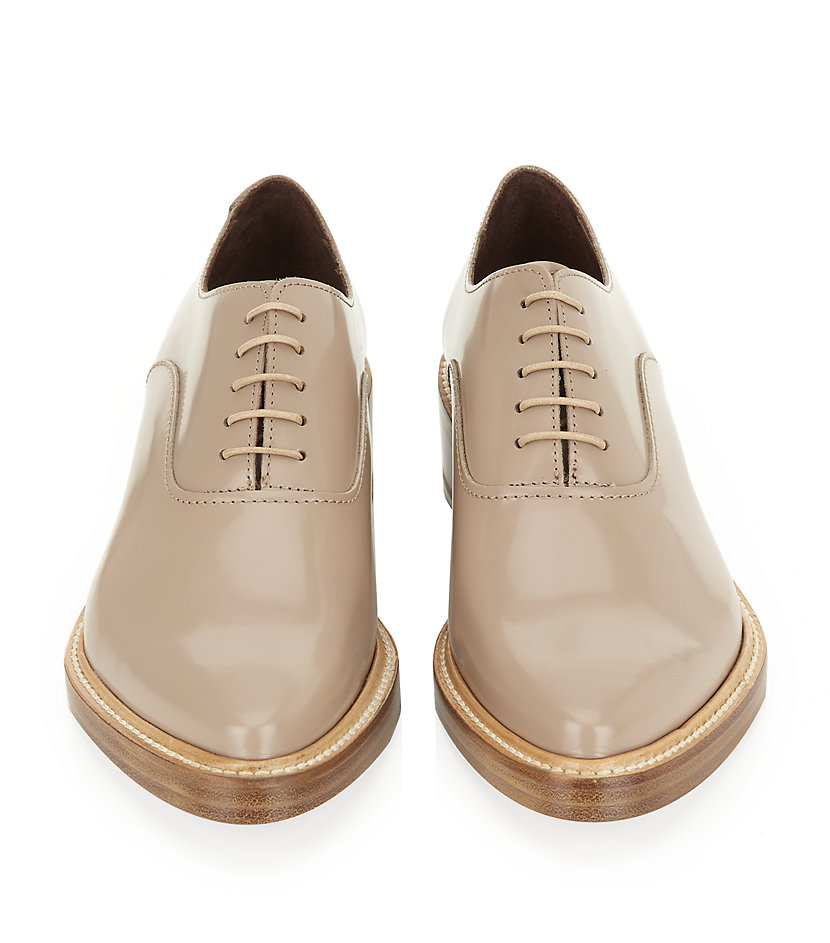 Acne Studios Carla Leather Oxford in Natural for Men