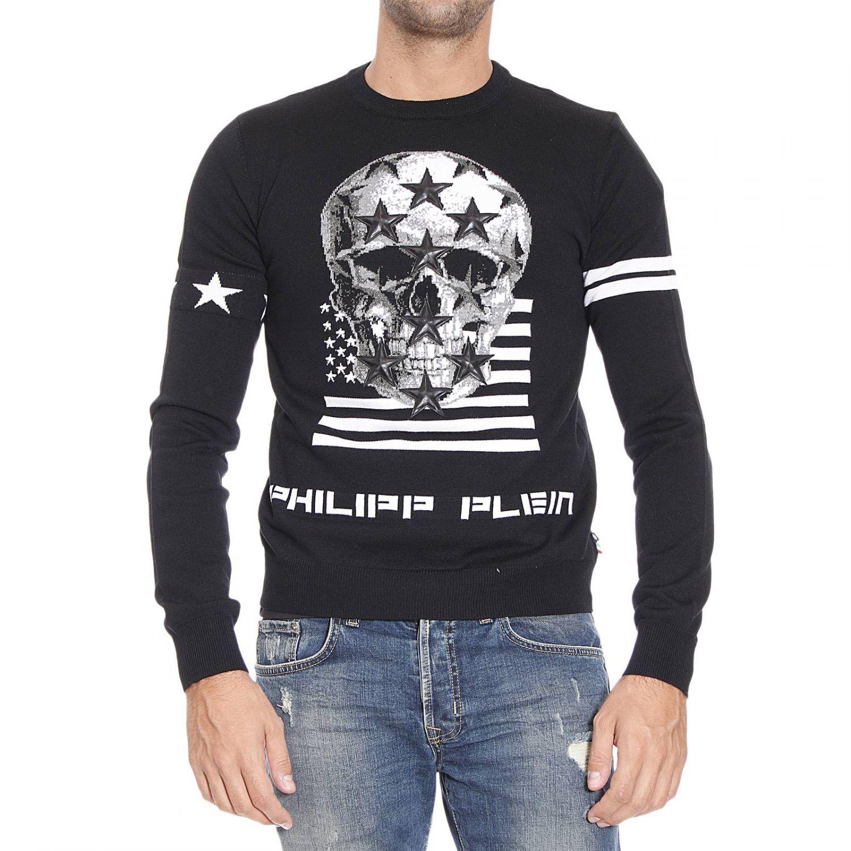8b58e8933c4 Philipp Plein Black Sweater for men