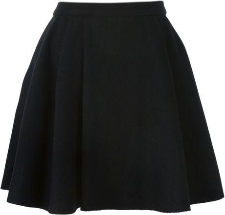 avelon pleated skater skirt in black lyst