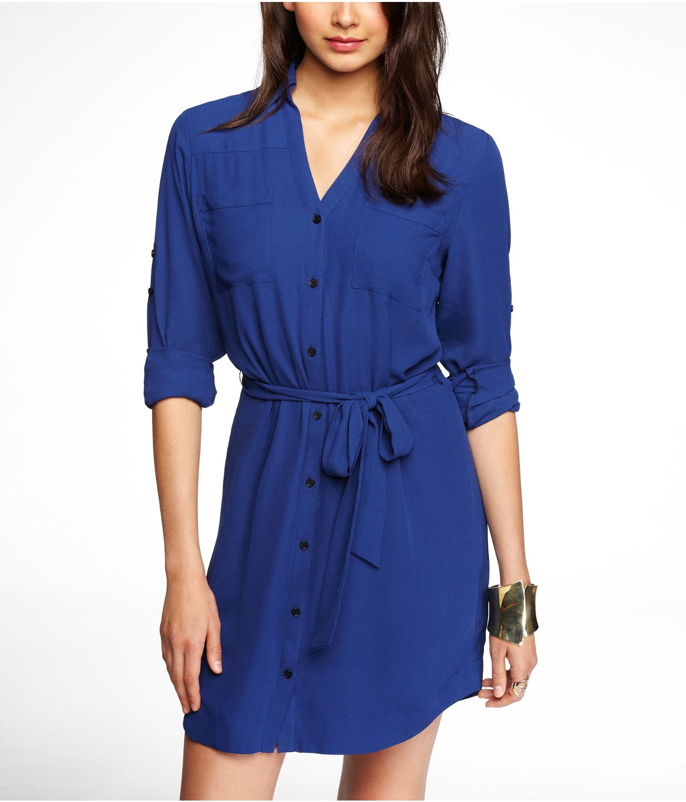 Royal blue shirt dress - All Pictures top
