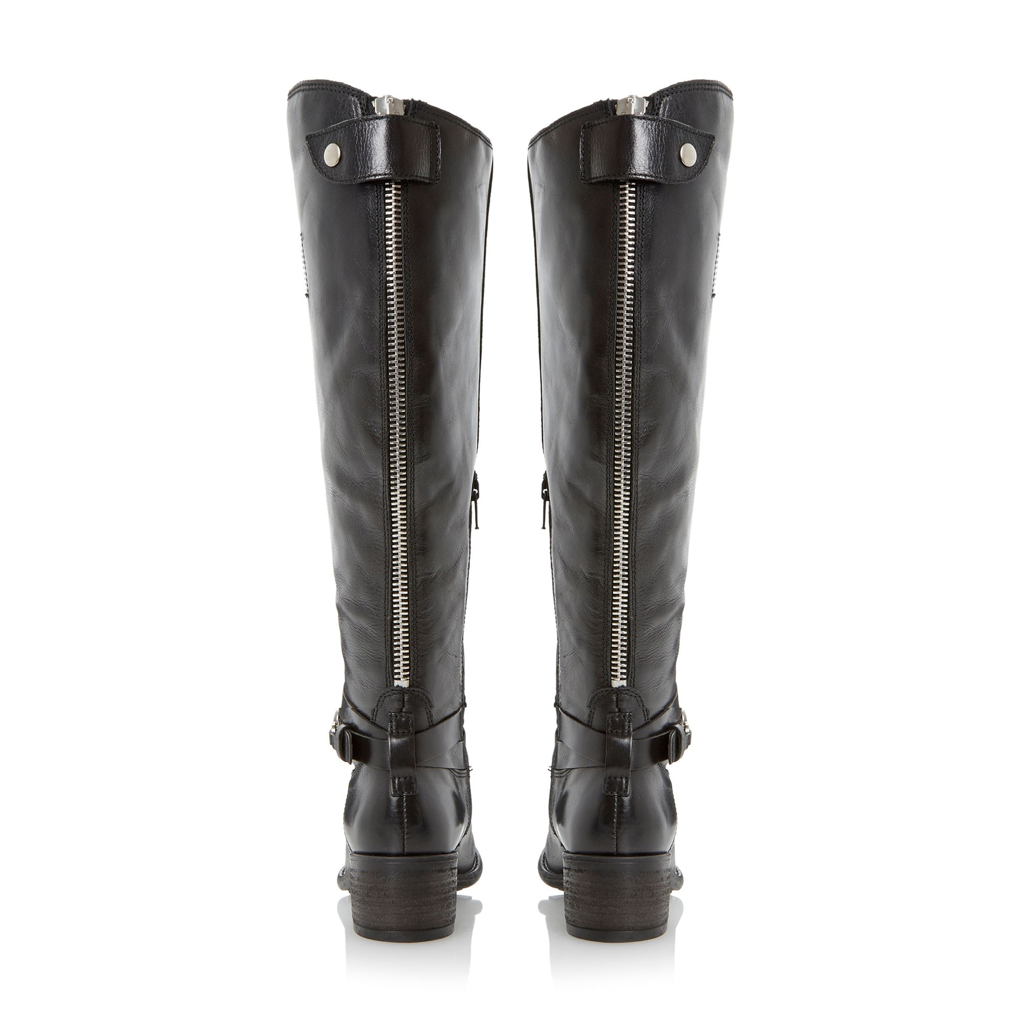 Dune Leather Tina Knee High Boots in Black Leather (Black)