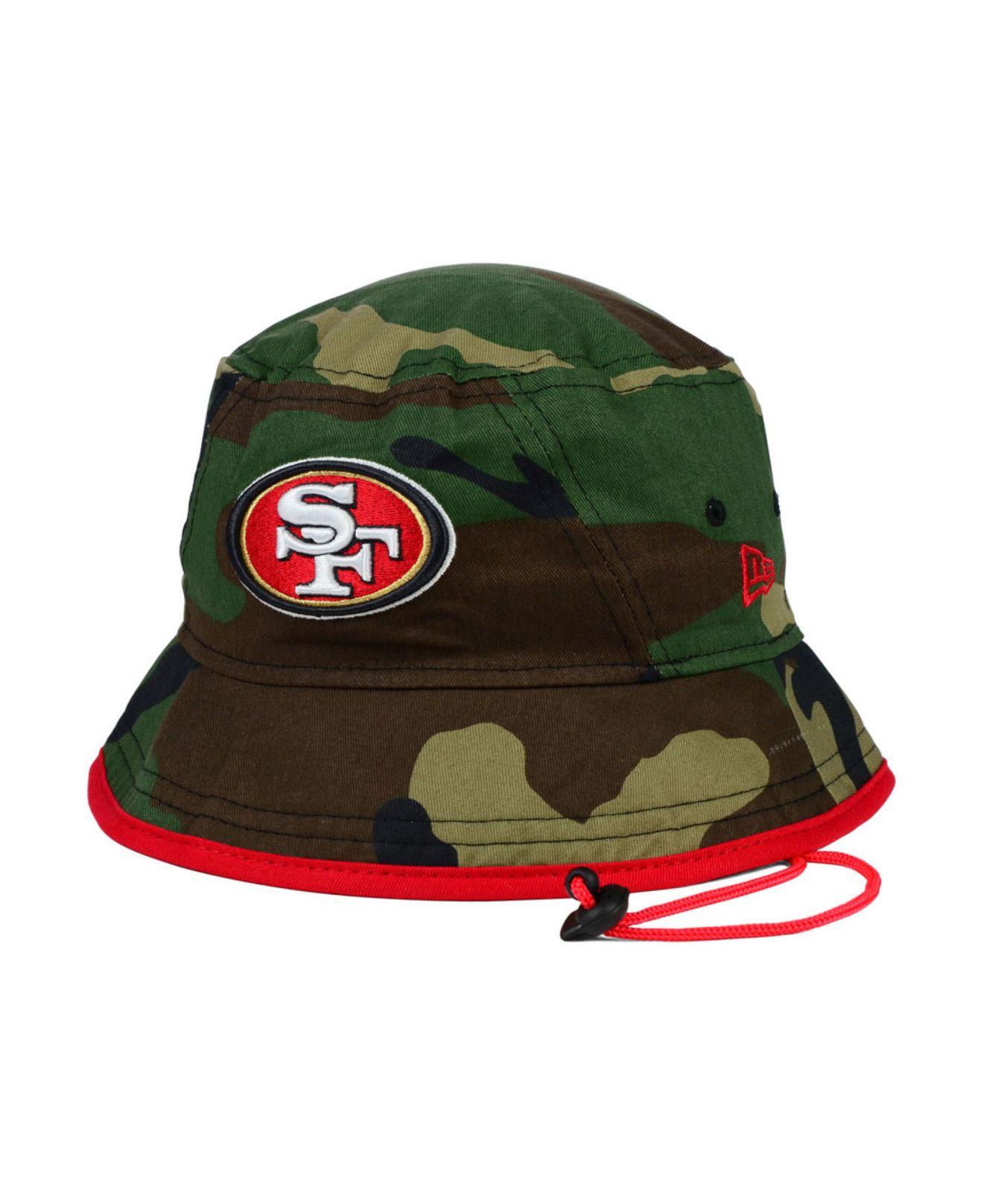 Lyst - KTZ San Francisco 49Ers Camo Pop Bucket Hat in Green for Men ea0d3bc3118