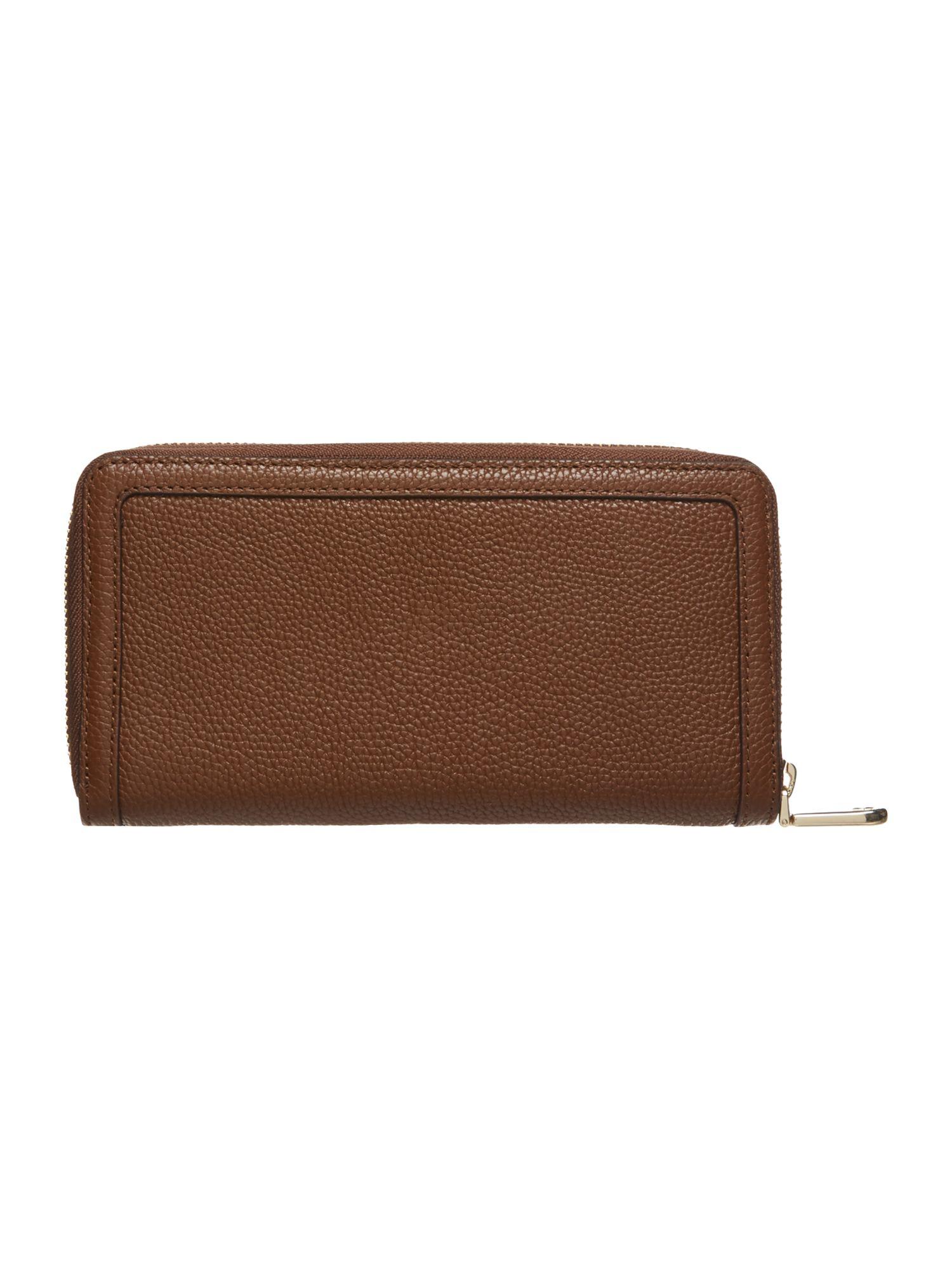 large tan purse
