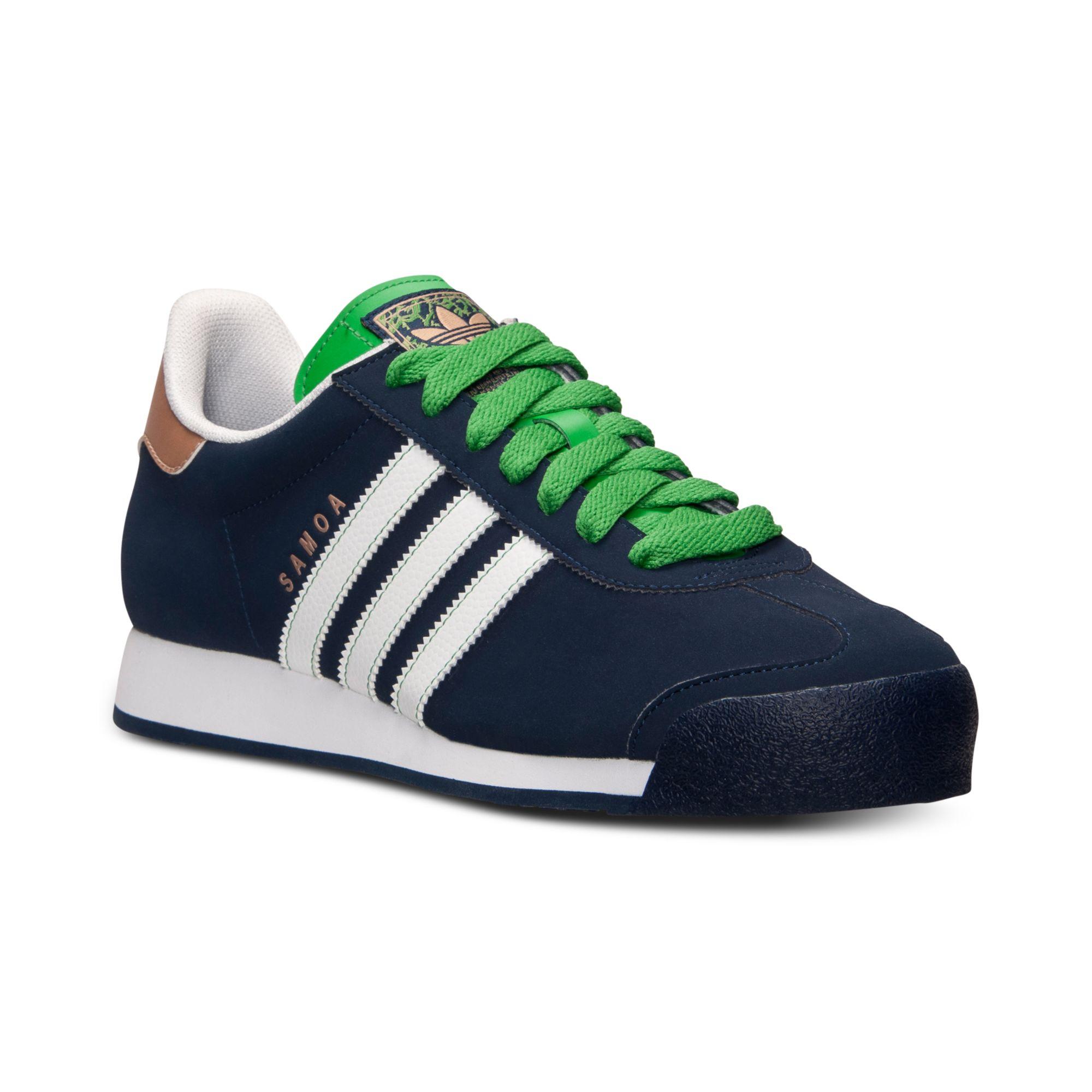 Adidas Men'S Samoa Casual Sneakers in Green for Men (COLLEGIATE NAVY