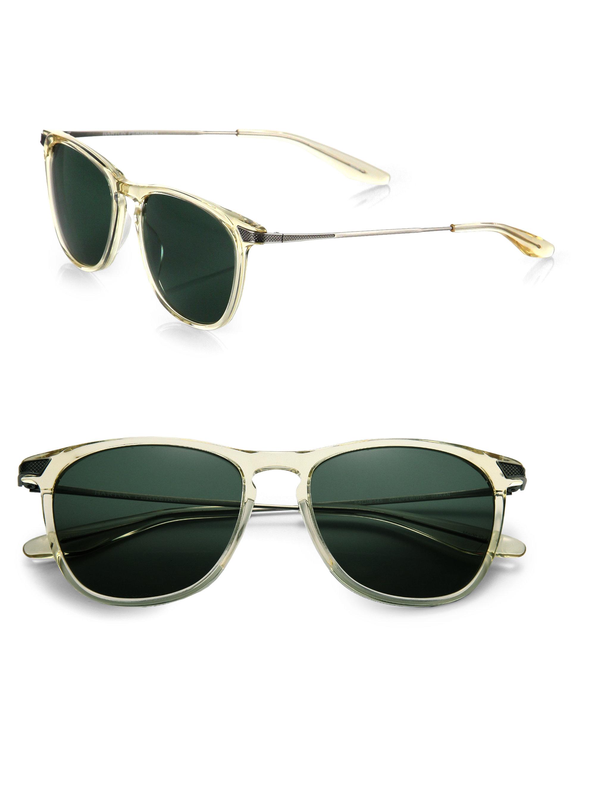 Lyst - Barton Perreira Hakan Metal & Acetate Sunglasses in Natural ...