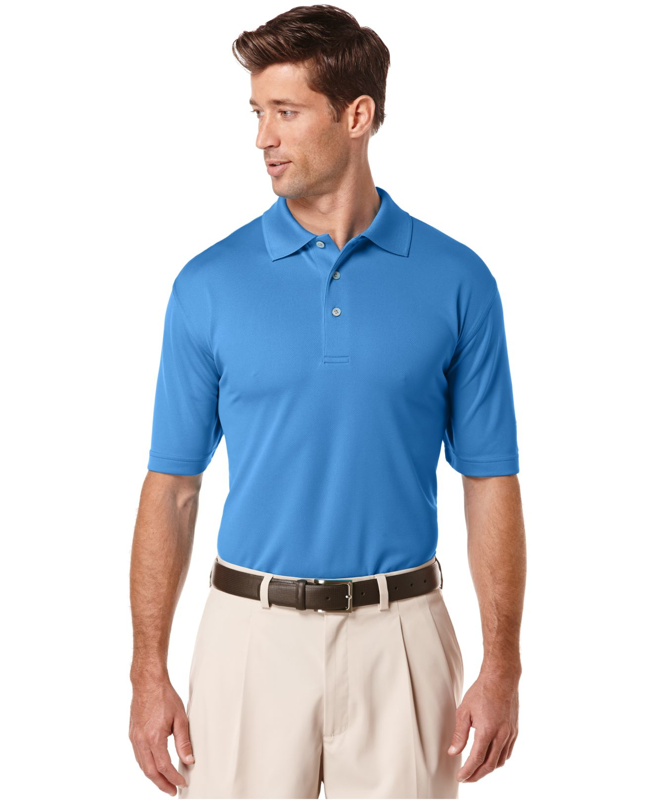 pga tour airflux solid golf polo in blue for men
