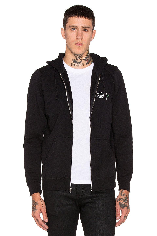 36aa9a65169 Lyst - Stussy Basic Logo Zip Hoodie in Black for Men