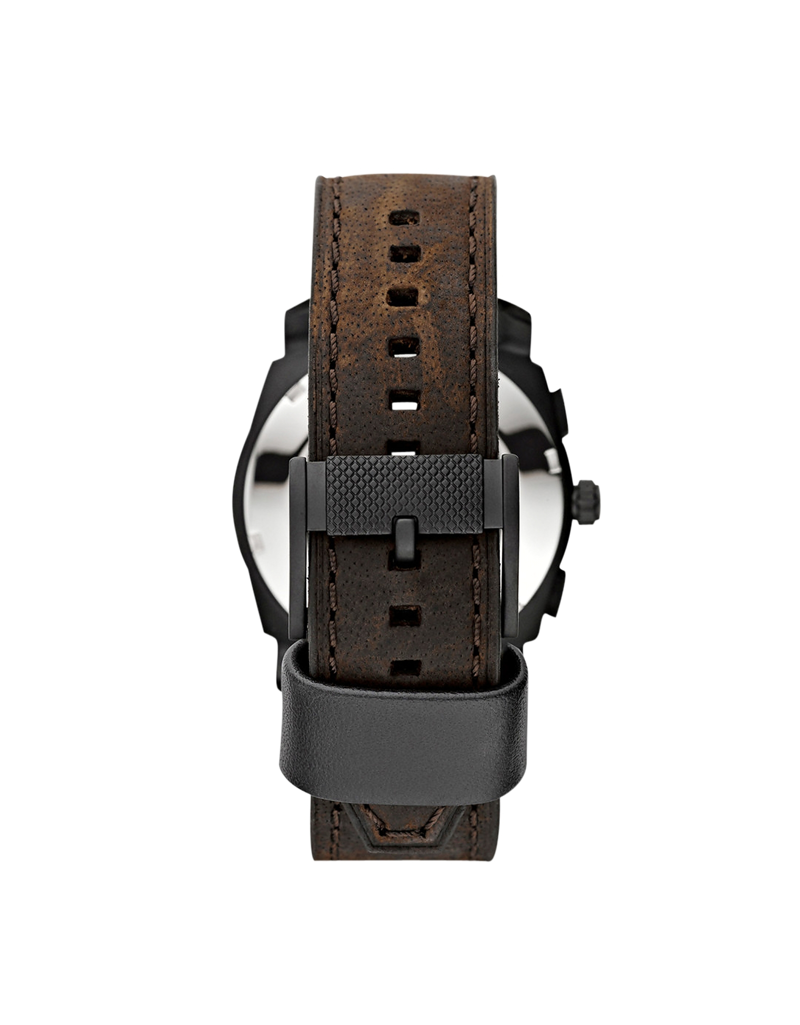 fossil machine leather brown
