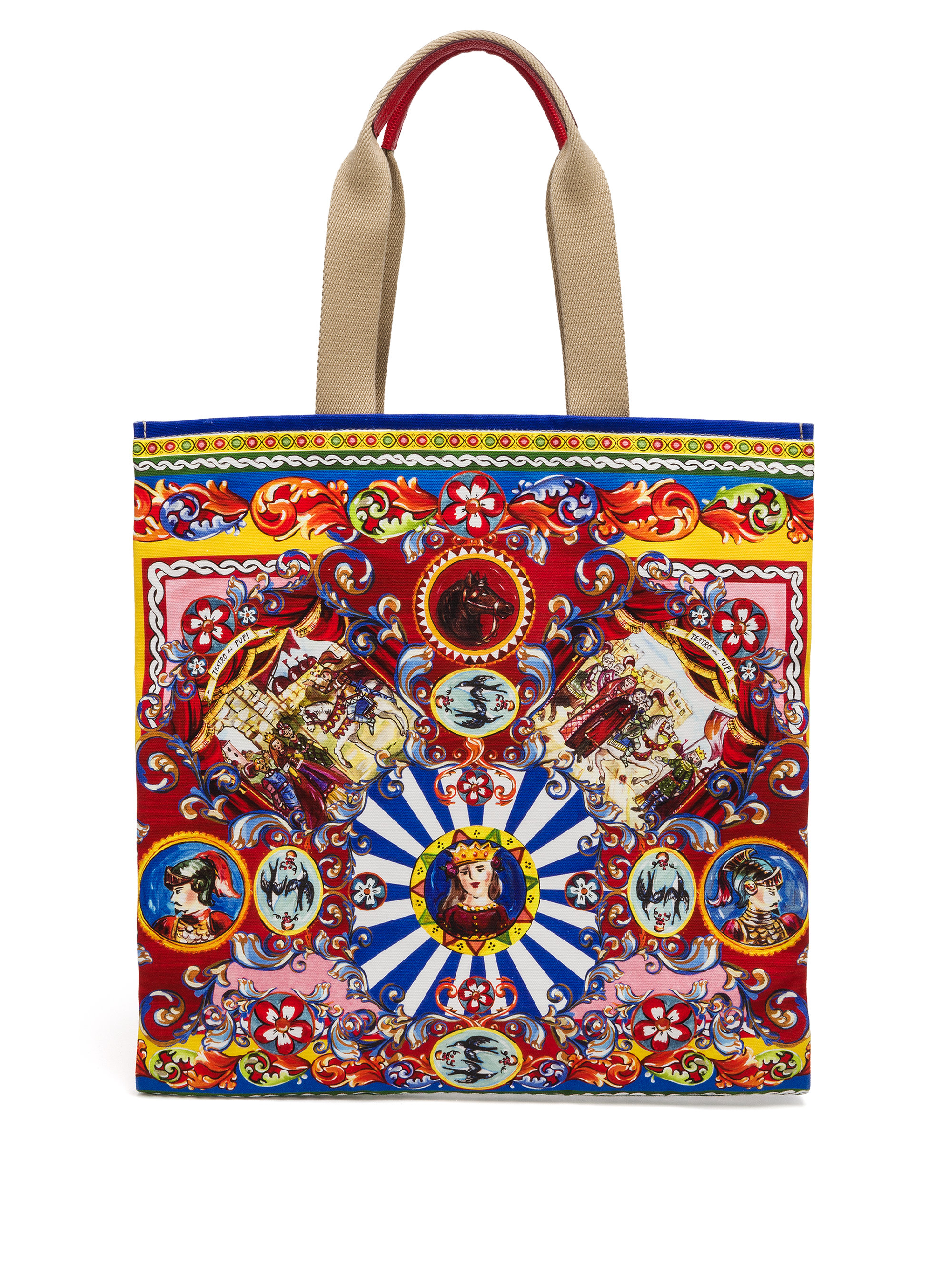 5126ffe99cd5 Lyst - Dolce   Gabbana Abstract-print Coated Canvas Tote