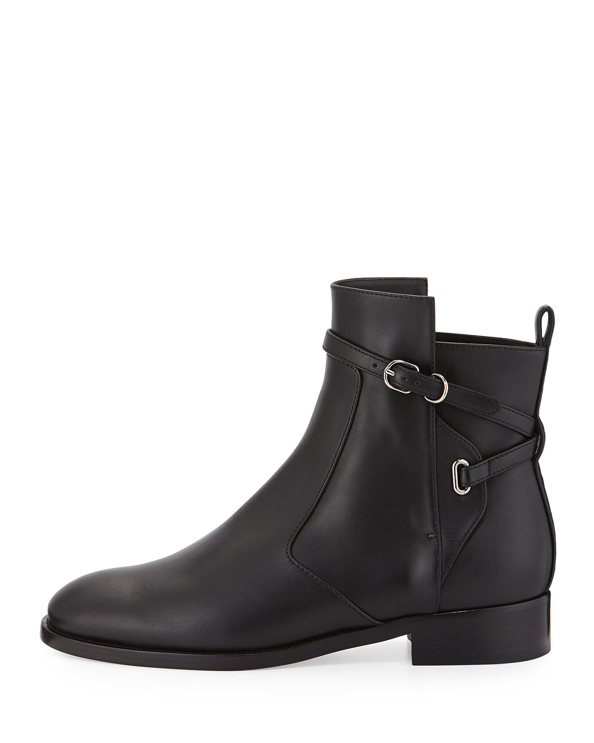 balenciaga ankle flat ankle boot in black lyst