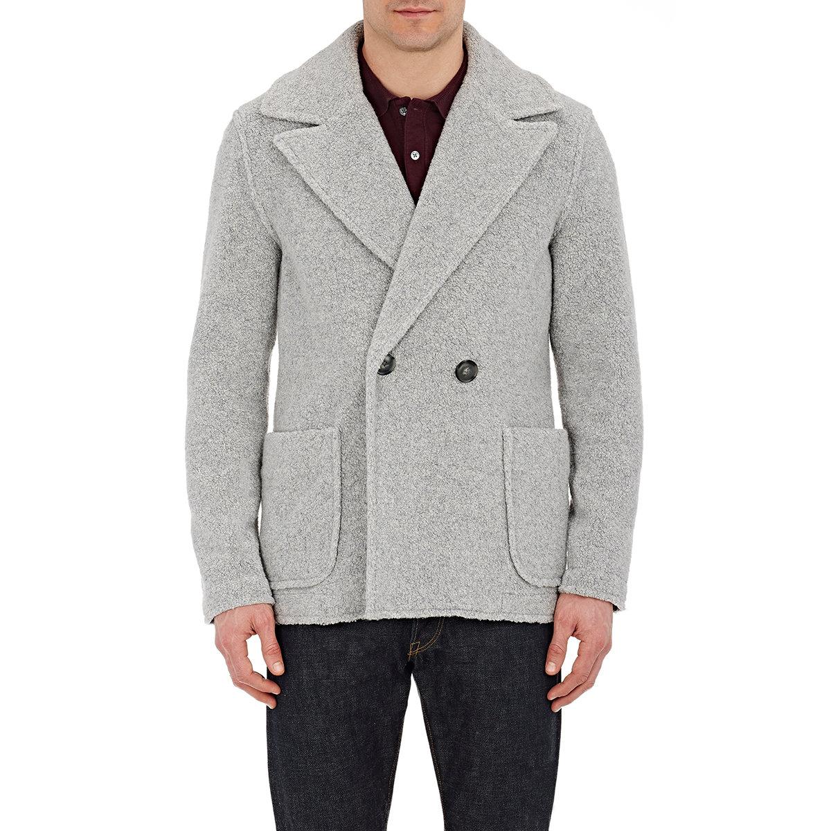 Atm Faux-shearling Coat in Gray for Men