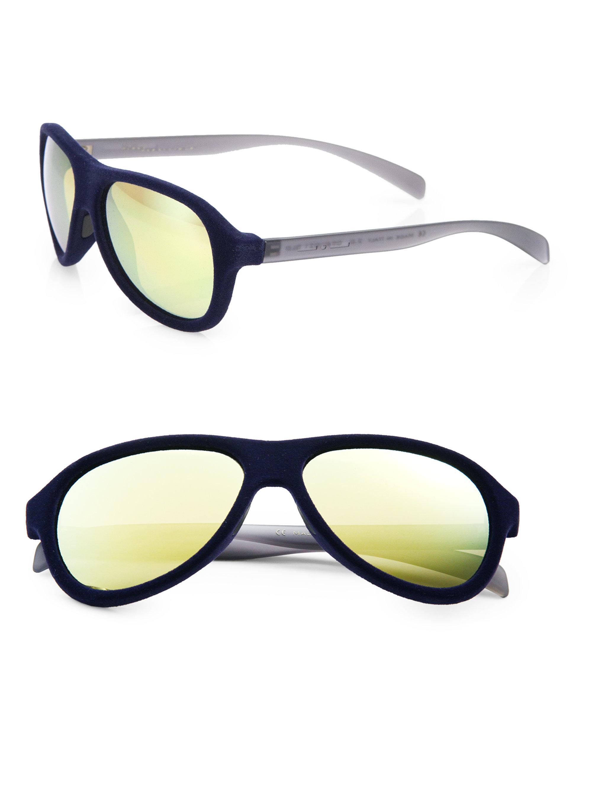 875e393ebf66 Lyst - Italia Independent Velvet Aviator Sunglasses in Blue for Men