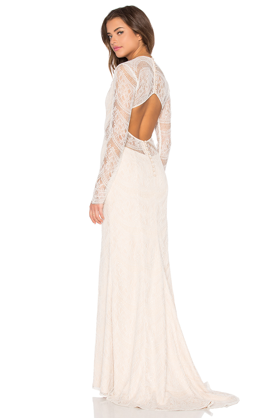 tularosa x revolve the ceremony dress in white lyst With white dresses for wedding ceremony