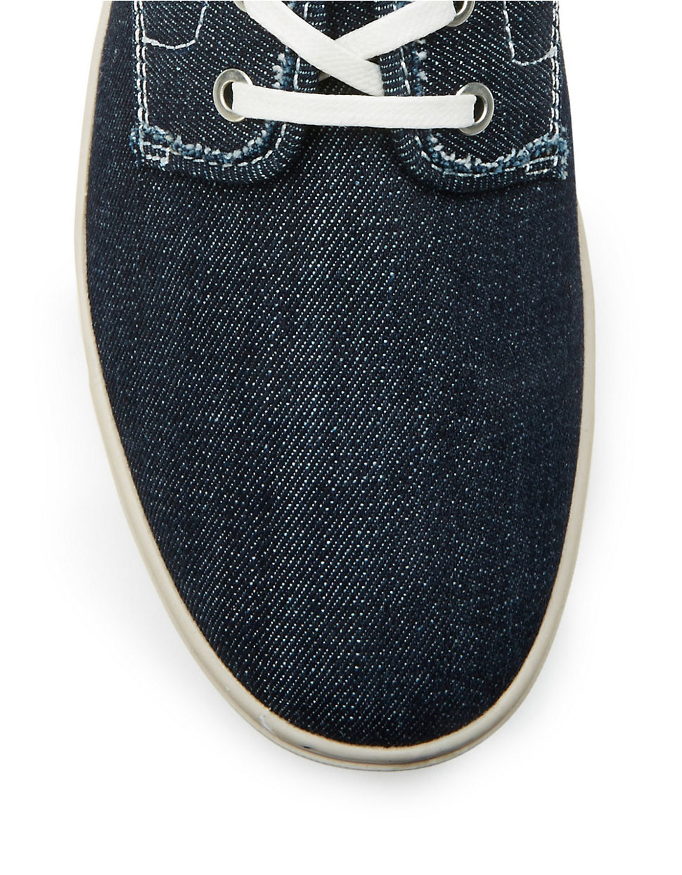 calvin klein zeus denim slip on sneakers in blue for men. Black Bedroom Furniture Sets. Home Design Ideas