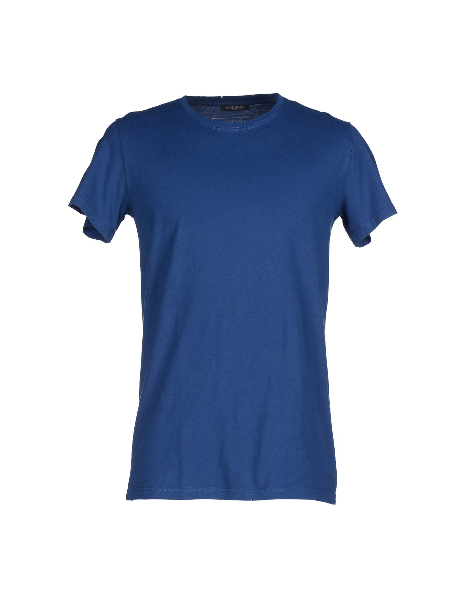 balmain t shirt in blue for men lyst. Black Bedroom Furniture Sets. Home Design Ideas