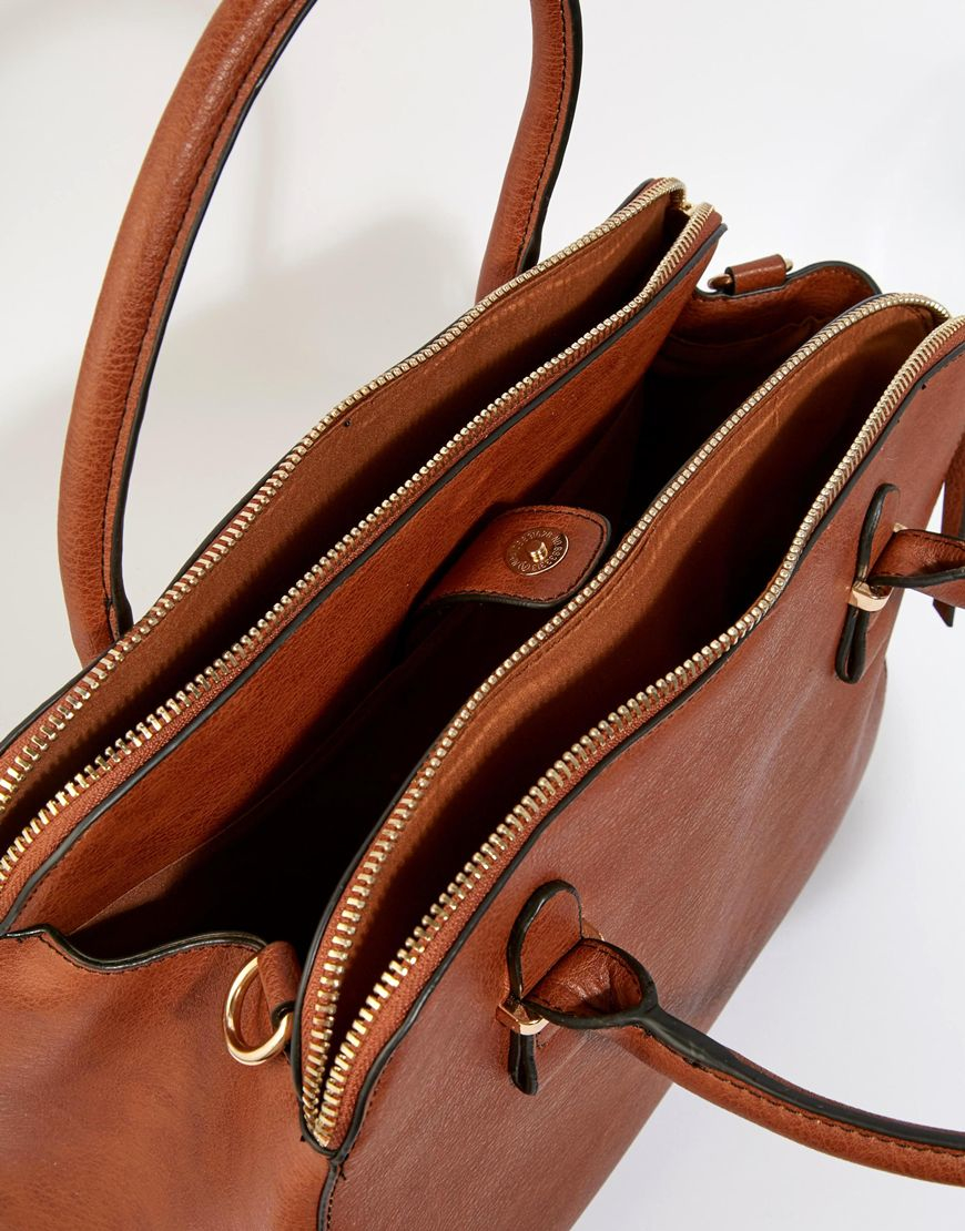 c565b7a17682 Oasis Triple Compartment Bag in Brown - Lyst