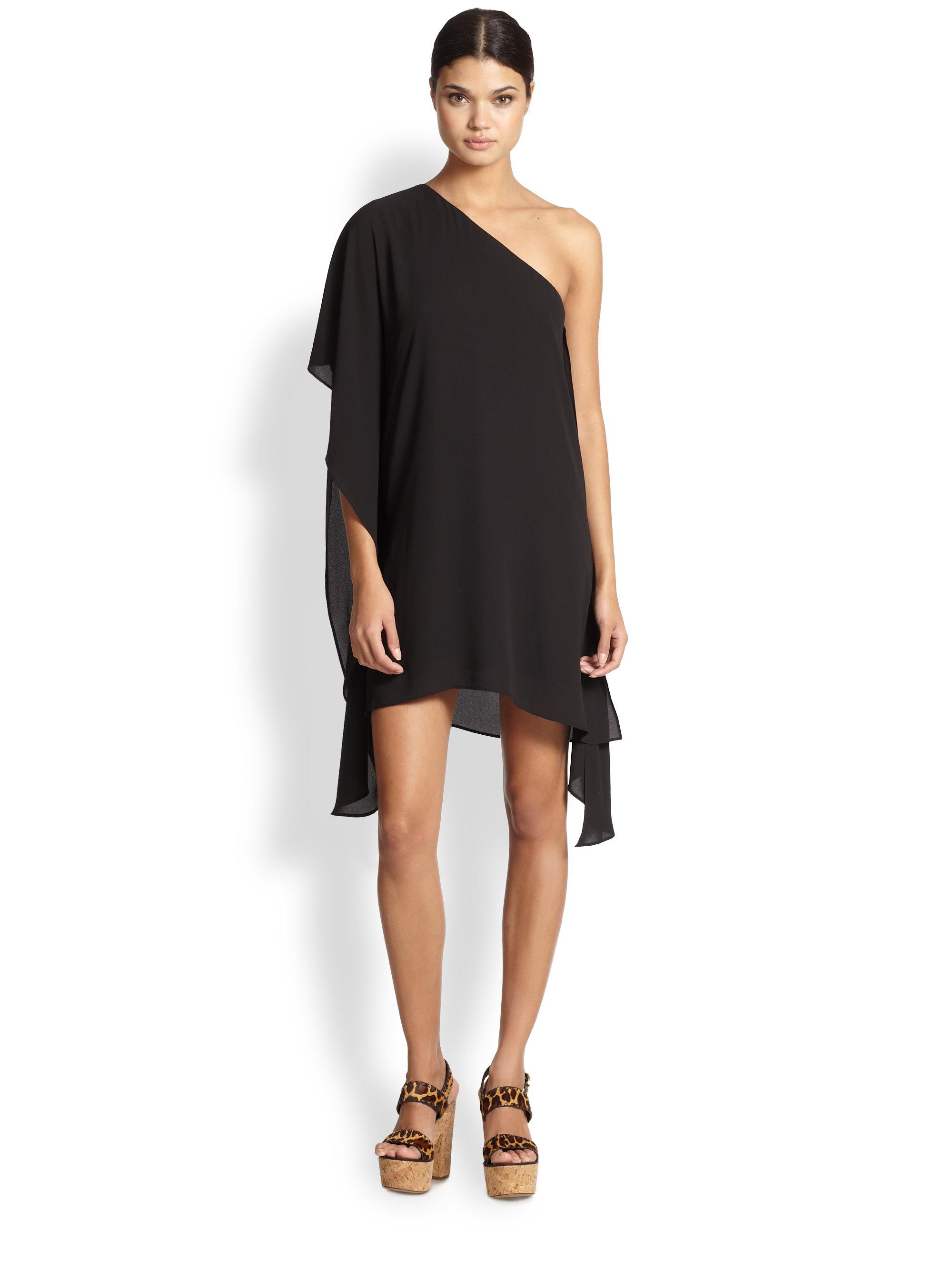 Bcbgeneration black one shoulder dress