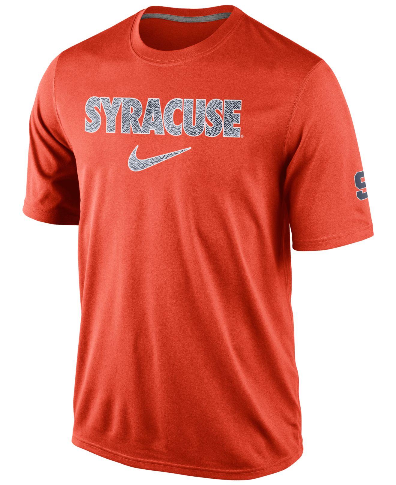 Nike men 39 s syracuse orange basketball fill t shirt in for Syracuse orange basketball t shirt