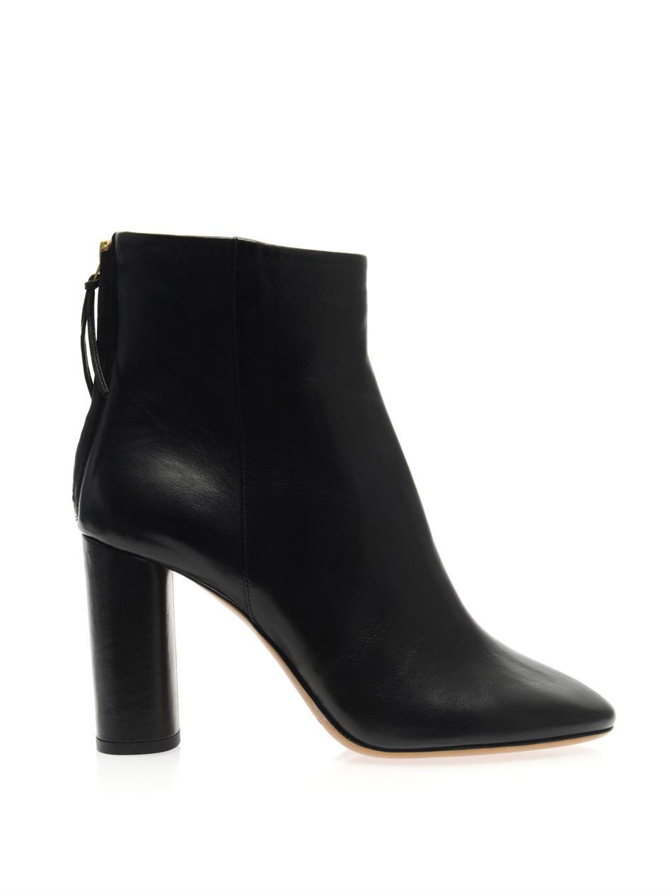 lyst isabel marant agora leather boots in black. Black Bedroom Furniture Sets. Home Design Ideas