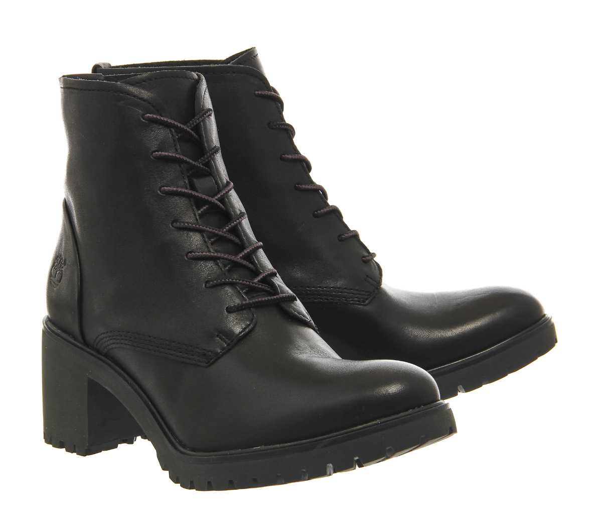 timberland averly lace chukka boots in black lyst