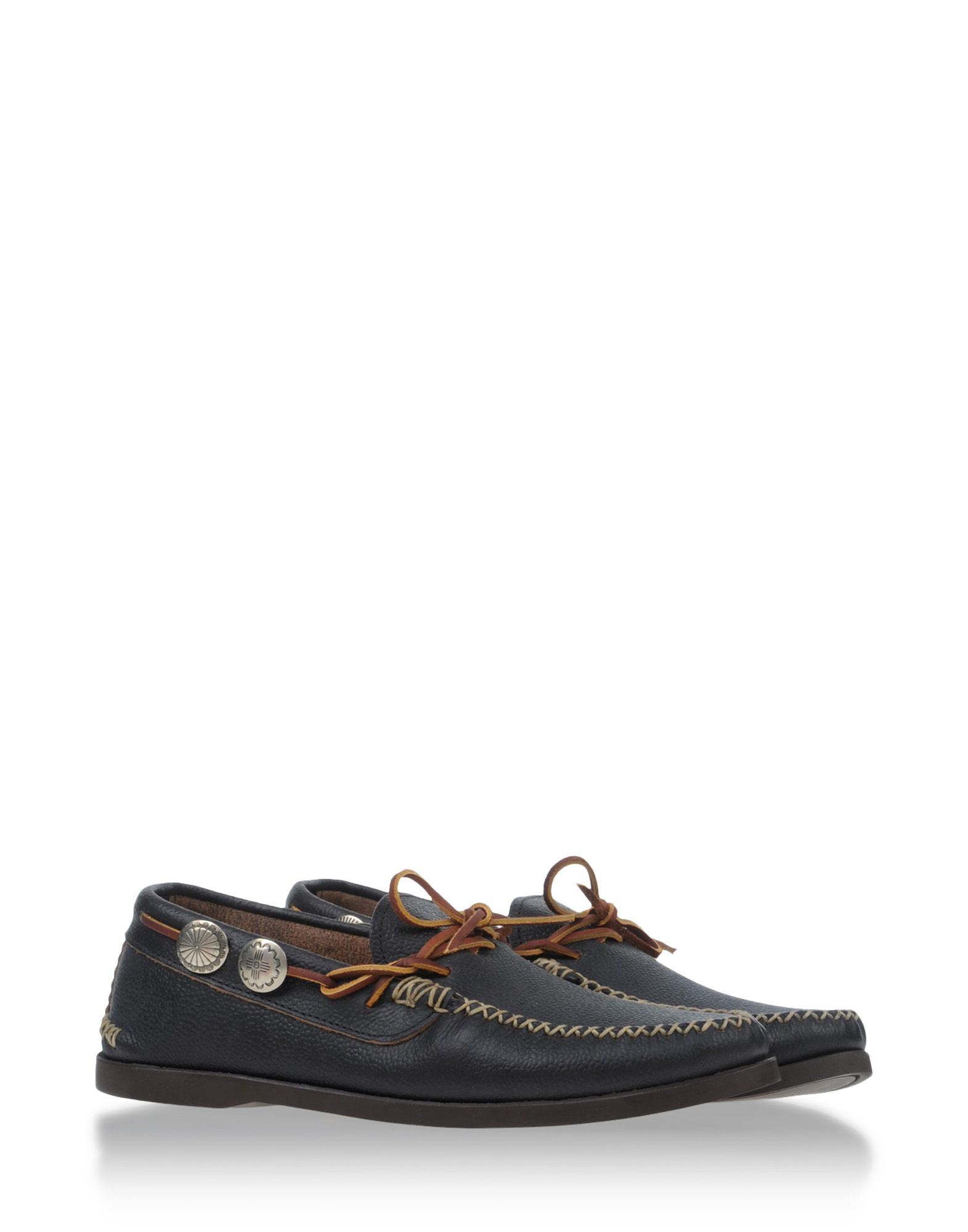 Yuketen Leather Moccasin Loafers in Black for Men