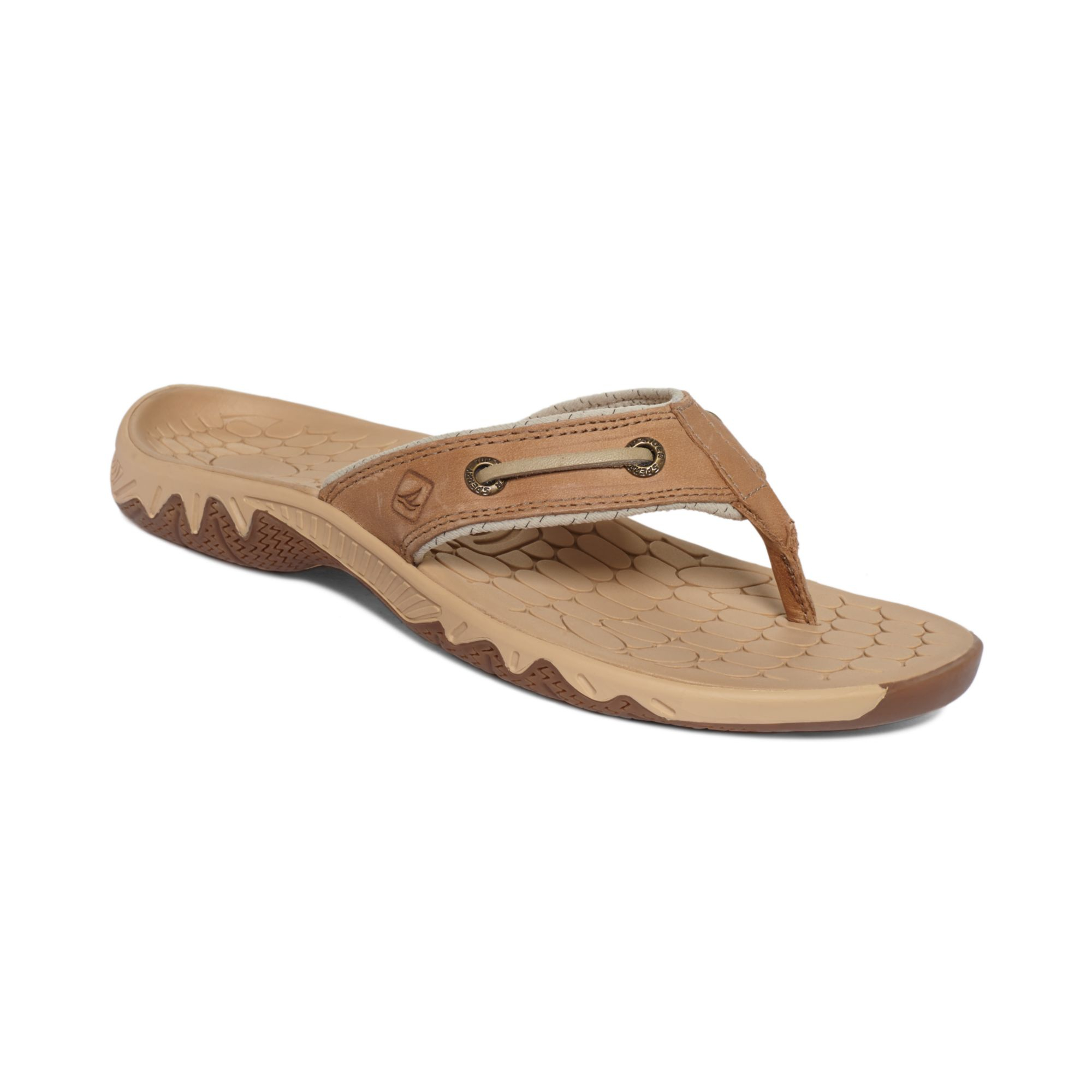 98ddf5a3bf225f Lyst - Sperry Top-Sider Womens Pulse Sonr Thong Sandals in Brown