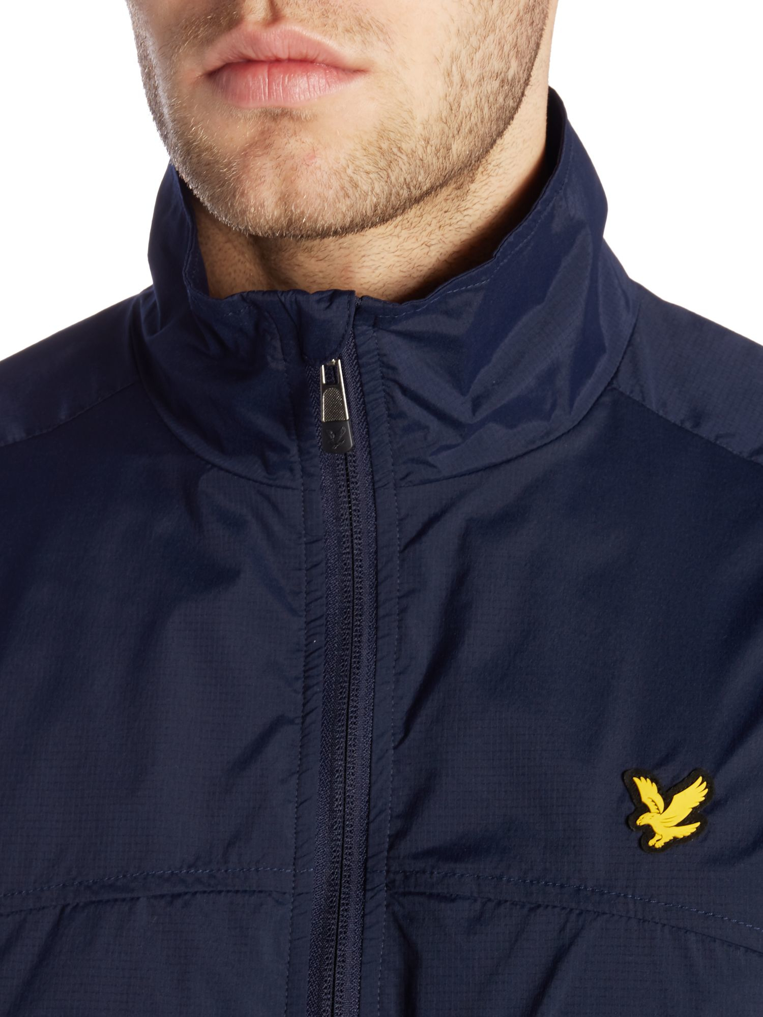 Lyle & Scott Sports Full Zip-through Jacket in Navy (Blue) for Men