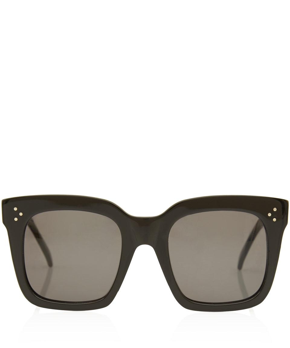 9c01d12ceae6 Céline Black Tilda Oversized Sunglasses in Black - Lyst