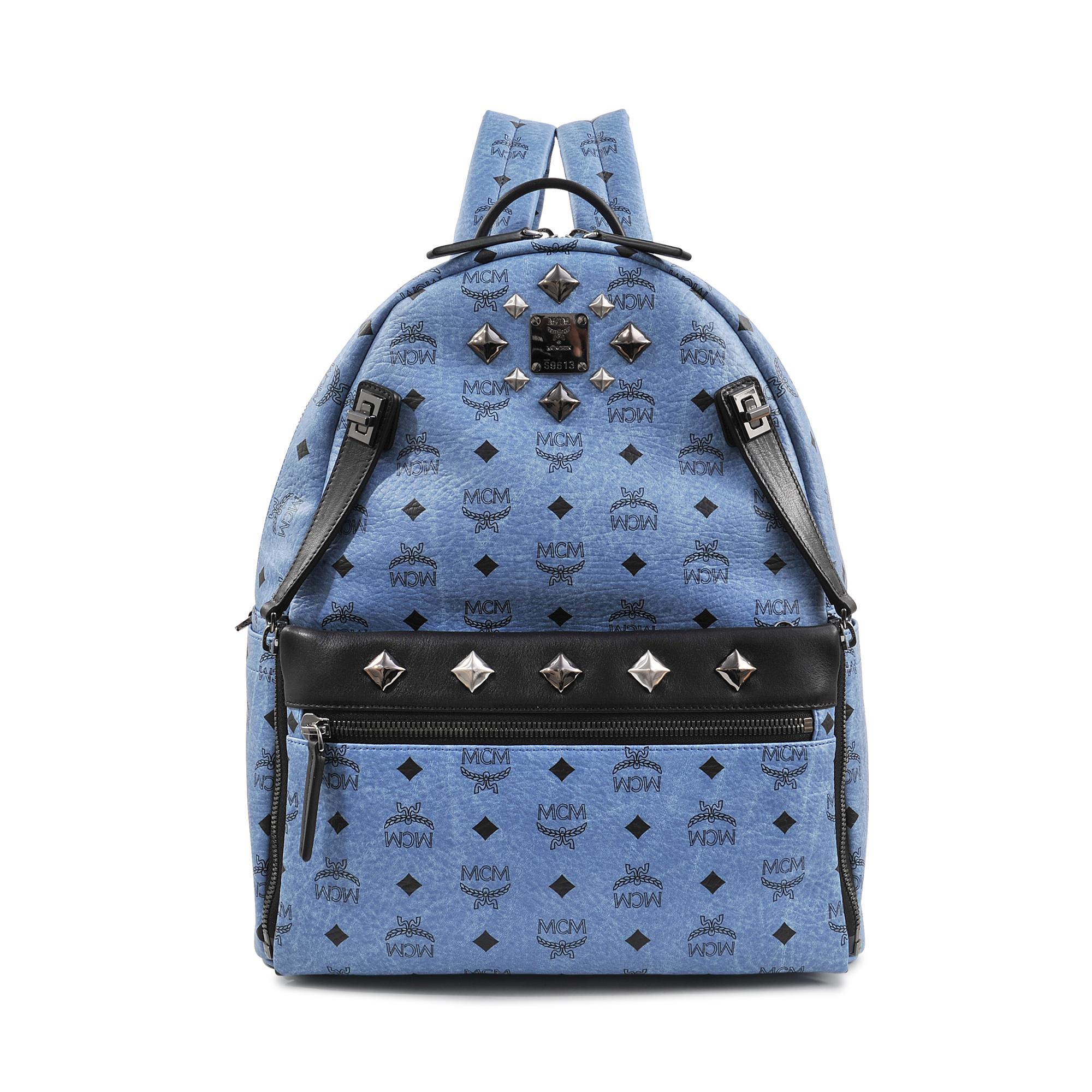 mcm medium dual stark backpack in blue lyst. Black Bedroom Furniture Sets. Home Design Ideas