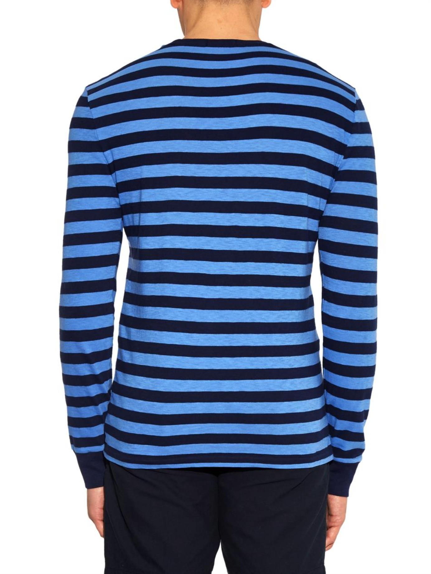 Lyst - Polo Ralph Lauren Long-Sleeved Striped Jersey T ...