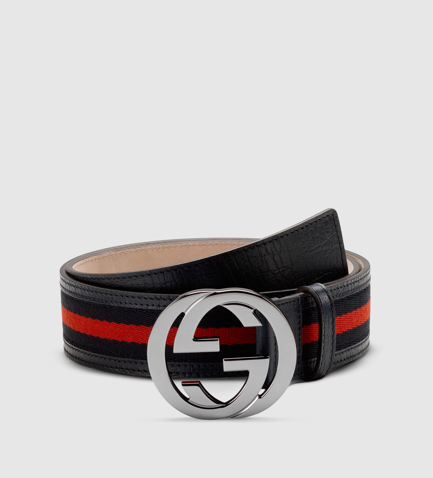 ae8481375 Gucci Signature Web Belt With Interlocking G Buckle in Black for Men ...