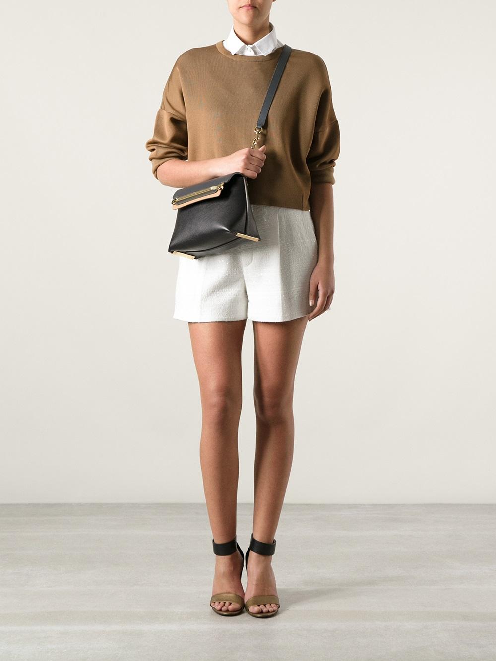 Chlo¨¦ Small \u0026#39;Clare\u0026#39; Shoulder Bag in Black | Lyst