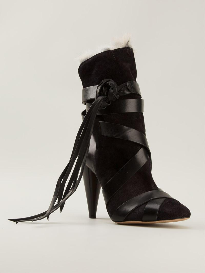 isabel marant 39 neta 39 boots in black lyst. Black Bedroom Furniture Sets. Home Design Ideas