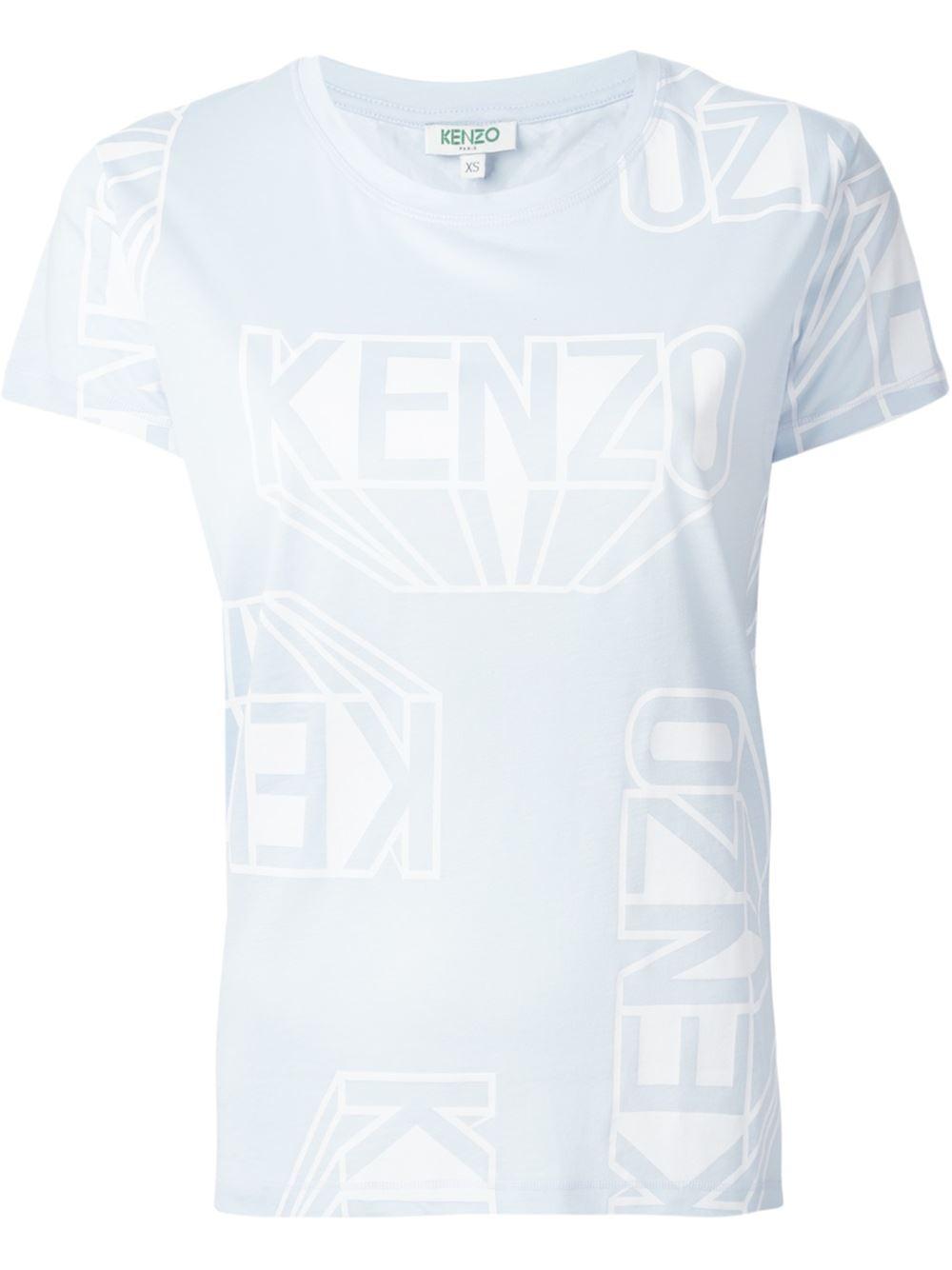 kenzo 39 39 t shirt in blue lyst. Black Bedroom Furniture Sets. Home Design Ideas