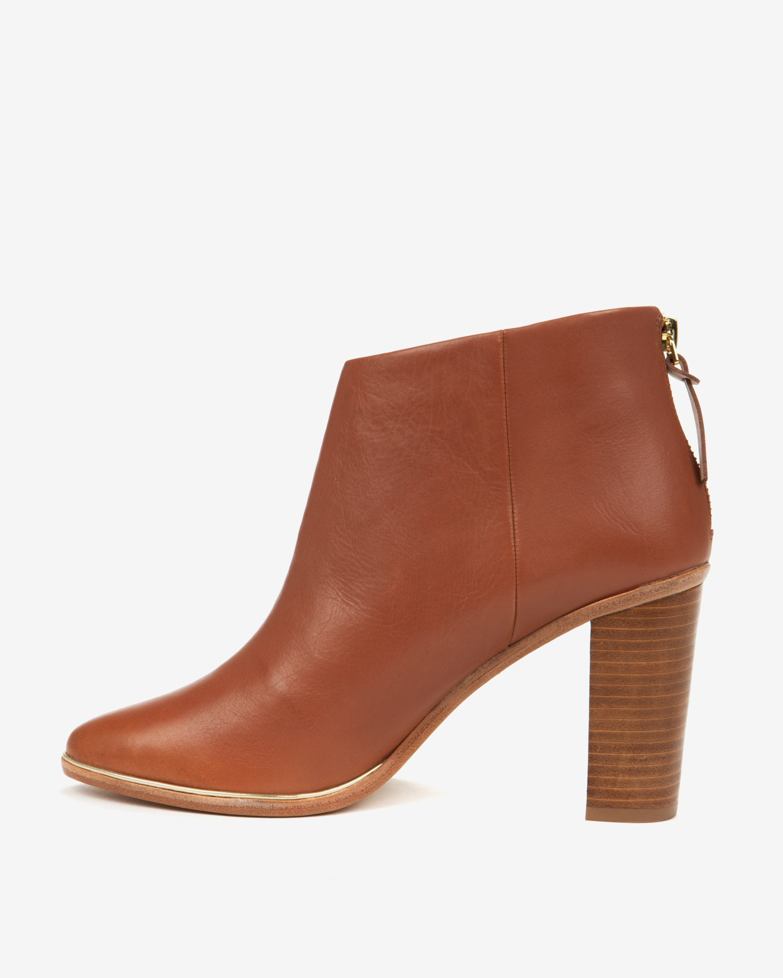 cc0b77aeee9 Ted Baker Brown Leather Ankle Boots