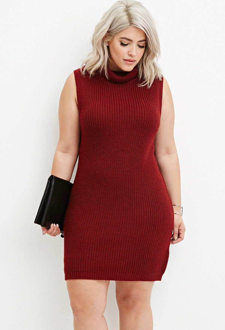 Forever 21 Plus Size Turtleneck Bodycon Sweater Dress You\'ve Been ...