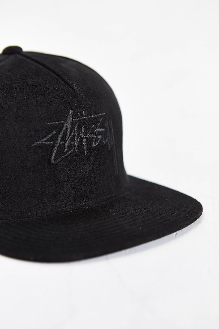 Lyst - Stussy Stock Suede Snapback Hat in Black for Men ab1d4912a091