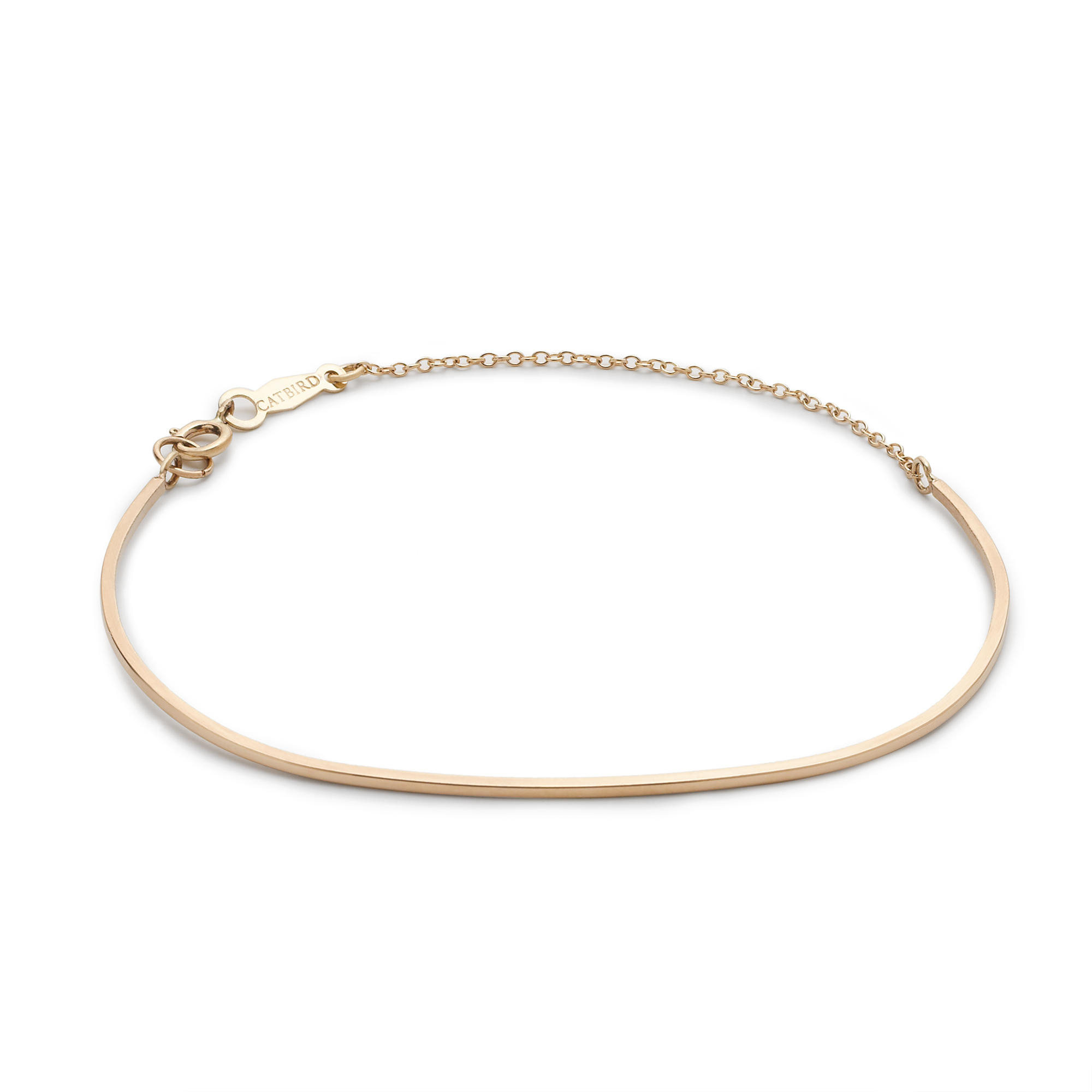 j crew catbird 14k gold ballerina bracelet in gold yellow
