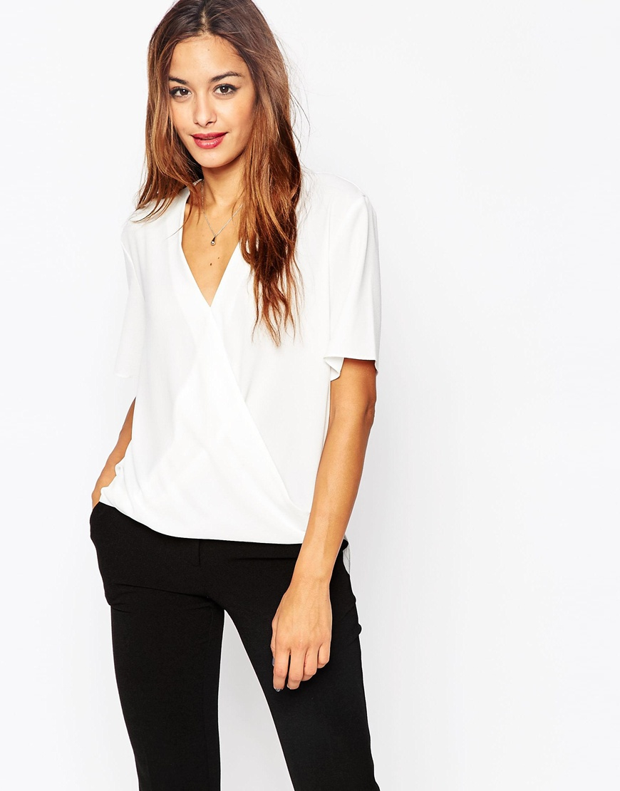 Off White Short Sleeve Blouse 13