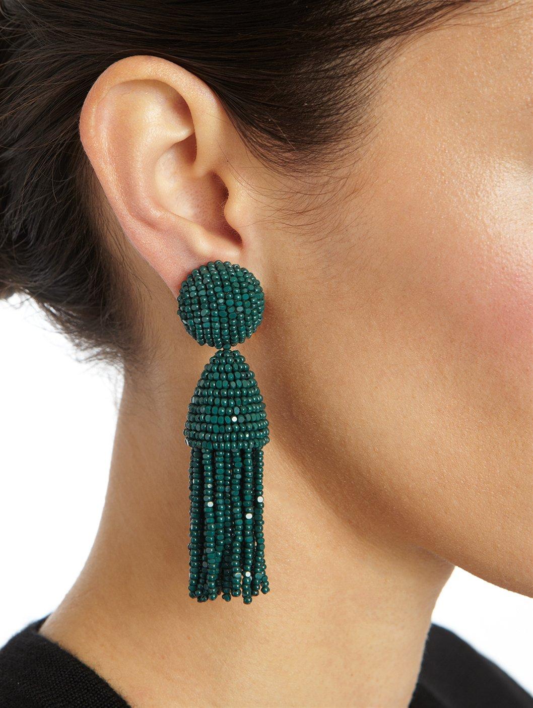 Beaded Tassel Earrings Oscar De La Renta zky30LeD