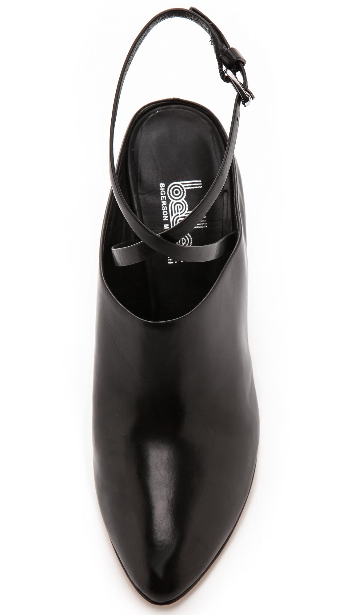 474de0e15d45e Belle By Sigerson Morrison Fresco Ankle Strap Mules Black in Black ...