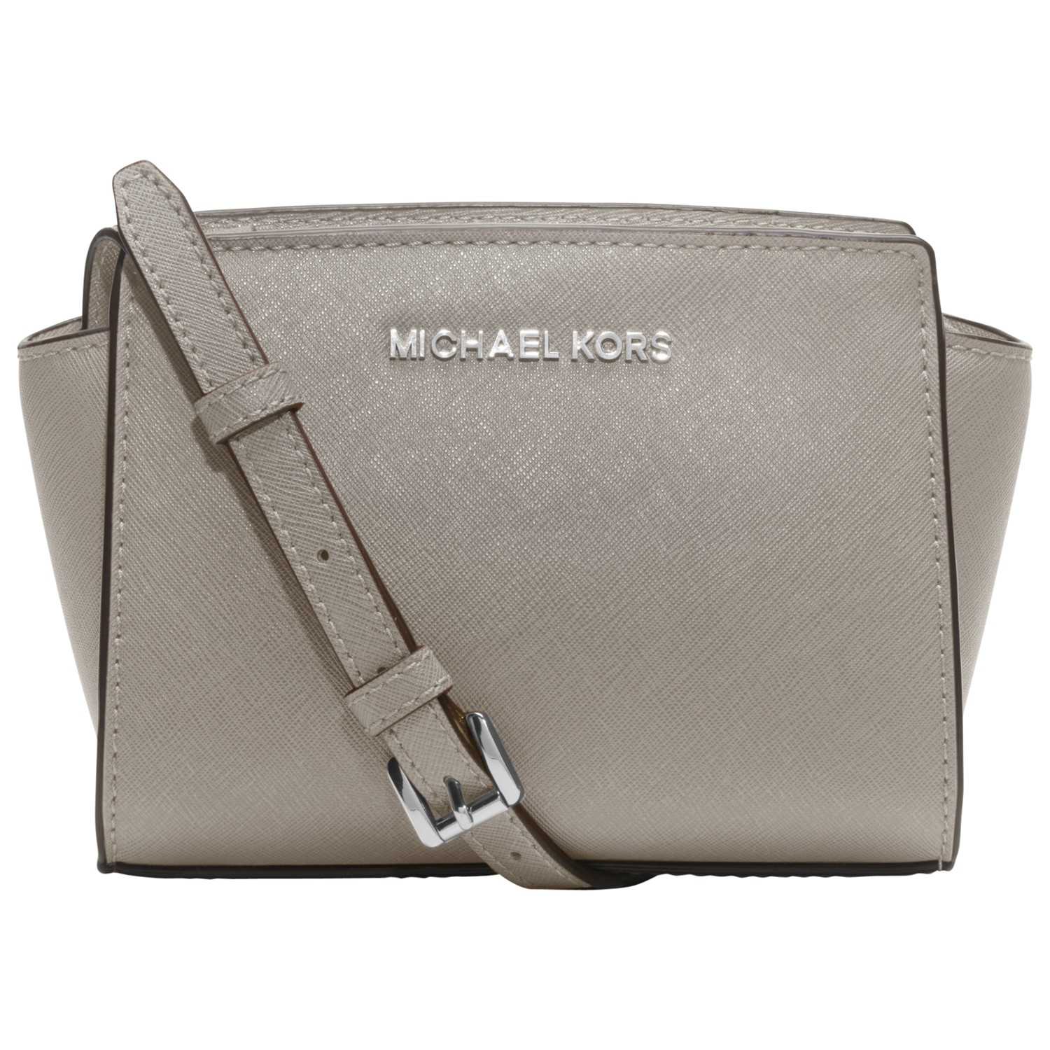 ... coupon for michael michael kors selma saffiano leather mini messenger  bag in gray lyst a1f8e 820cc 143af965641b3