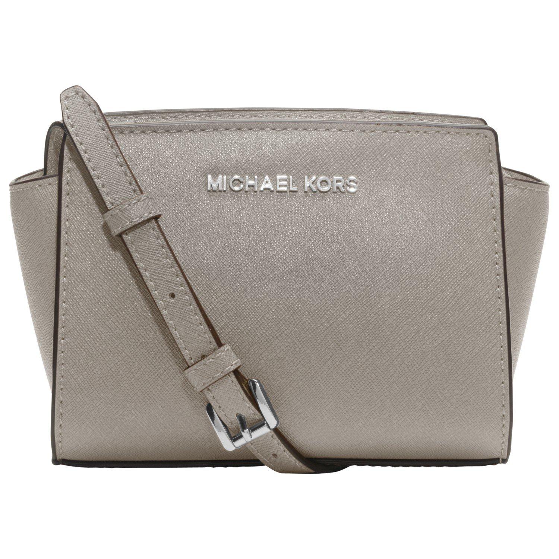 ... coupon for michael michael kors selma saffiano leather mini messenger  bag in gray lyst a1f8e 820cc 1257c3244f18f