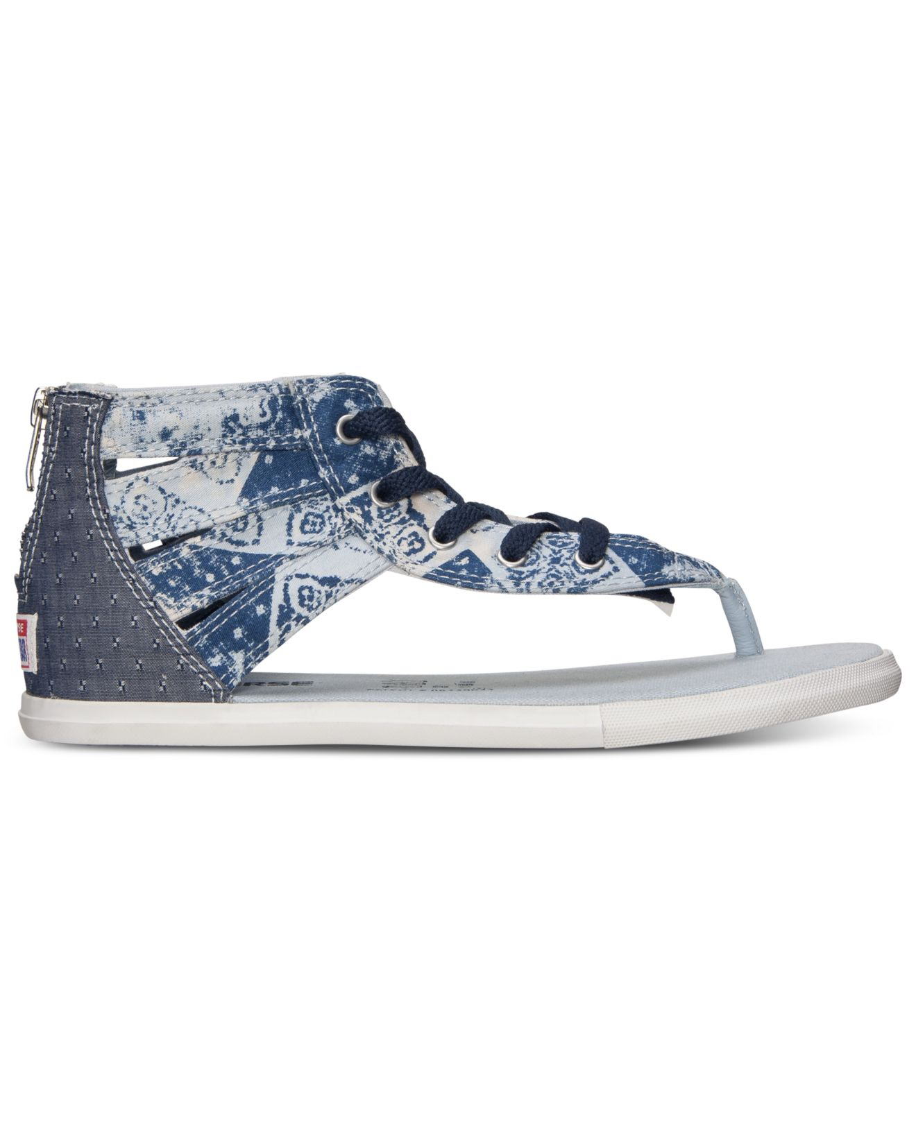 f95abd7a0bd7 Lyst - Converse Women s Chuck Taylor Gladiator Thong Sandals From ...