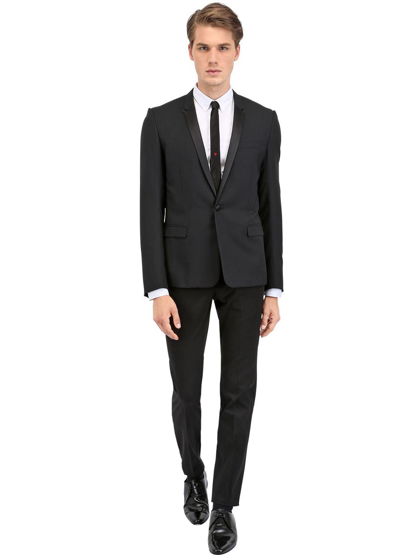 8d0b204991 Dior Homme Black Grain De Poudre Tuxedo Jacket for men